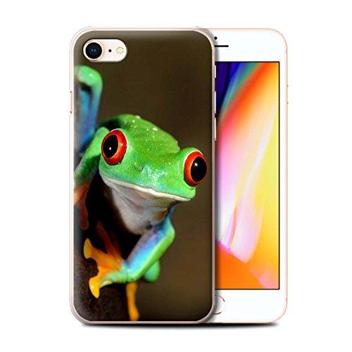 Hülle Für Apple iPhone 8 Wilde Tiere Frosch Design Transparent Ultra Dünn Klar Hart Schutz Handyhülle Hülle