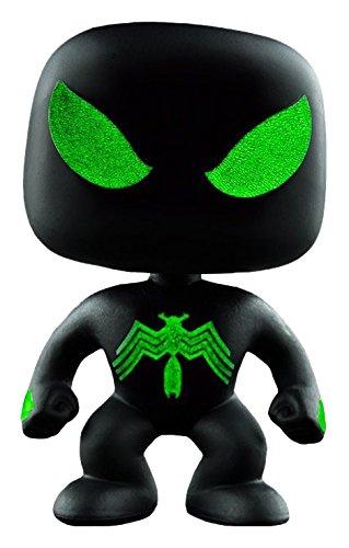 Funko POP!: Marvel: Spider-Man: Spider-Man Traje negro Brilla en la oscuridad Exclusivo