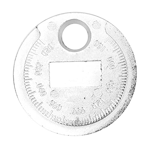 Akozon Spark Plug Gap Gauge, 0.02‑0.1in / 0.6‑2.4mm Tipo de Moneda Herramienta de Calibre de bujía para bujía de Coche Reparación de Acero Inoxidable
