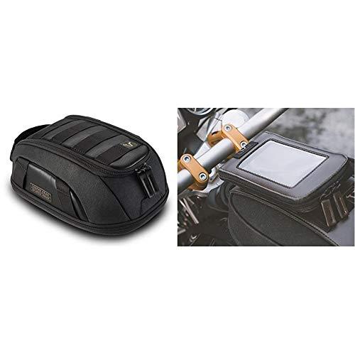 """SW-Motech Legend Gear Tankrucksack LT1 - Black Edition 3,0 l - 5,5 l. Magnet-Halterung. Wasserabweisend & Legend Gear Smartphone-Tasche LA3 Zusatztasche. Touch-kompatibel. Display bis 5,5"""""""