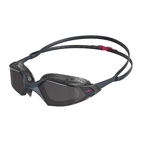 Speedo Gafas Aquapulse Pro adulto unisex, Gris óxido/Phoenix Red/Humo