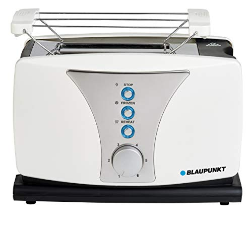 Blaupunkt TSP601 Toaster mit 2 Toastkammern und Brötchen-Röstaufsatz 800W Aufwärmen Auftauen Toasten