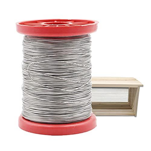 PROBEEALLYU 500g 0,5 mm di filo in acciaio Inossidabile Rocchetto inox Wire Acciaio Filo Esterna Filo di Ferro per apicoltura Ape Alveare Telaio Fondazione Strumento per Apicoltura