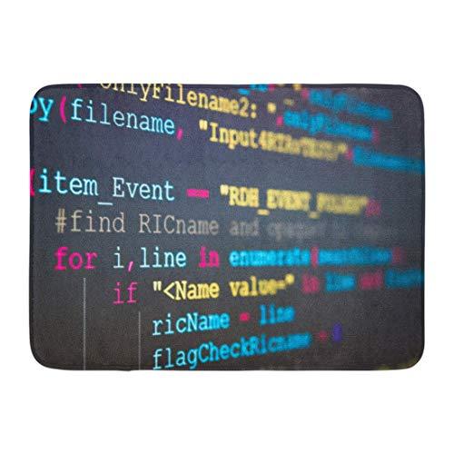 NCH UWDF Fußmatten Bad Teppiche Fußmatte Software Entwickler Programmiercode Abstrakt Computer Skript Bildschirm der Arbeitszeit Text geschrieben und erstellt 15,8