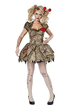 California Costumes Women s Voodoo Dolly Costume TAN Large