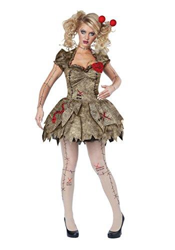 California Costumes Women's Voodoo Dolly Costume, TAN, Medium