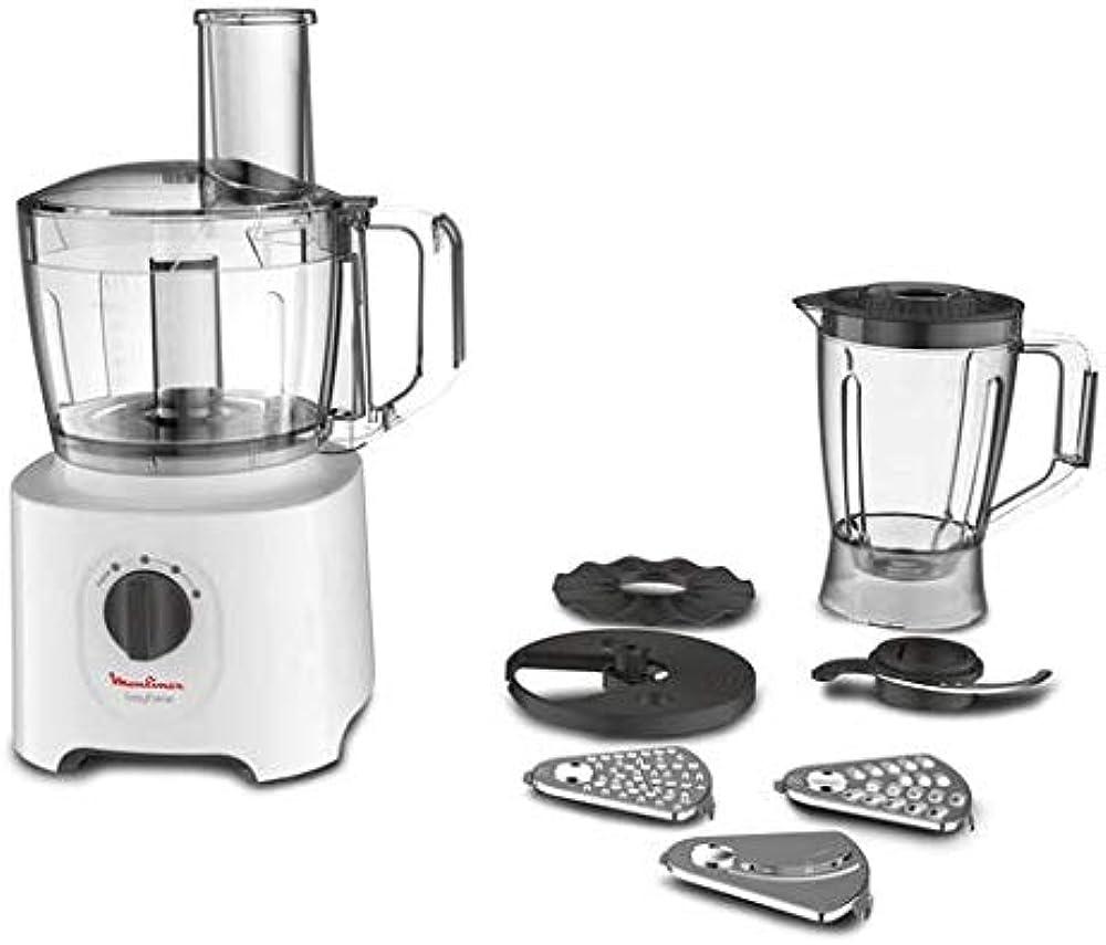 Moulinex easy force, robot da cucina all-in-one, 6 accessori per 25 diverse funzioni, recipiente da 1.4 l FP246110