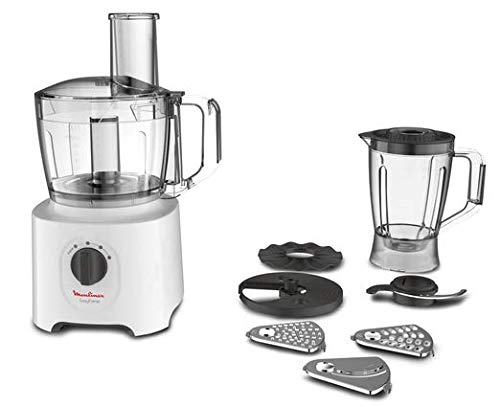 Moulinex FP2461 Easy Force, Robot da Cucina All-in-One, 6 Accessori per 25 Diverse Funzioni, Capacità Recipiente 1.4 L