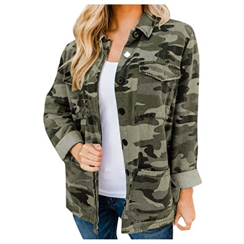 Fantastic Prices! Pumsun Women Long Sleeved Camouflage Print Coat Casual Stand Collar Coat Jacket Bl...