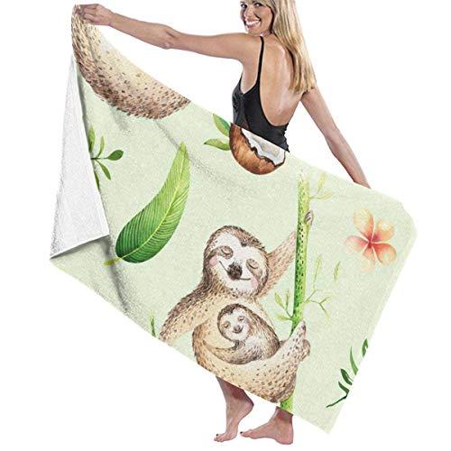 chillChur-DD Mamá y bebé durmiendo con una Toalla de Playa de bambú Toalla de baño Máxima suavidad y absorción para Deportes al Aire Libre Viajes Nadar