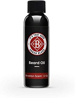 Urban Beard Beard Oil for Men – 2Oz Natural Beard Oil – Brooklyn Scent – Rapid Absorption and Non-Greasy Formula – Moistur...