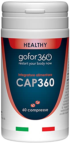 CAP360 / Integratore per capelli e unghie / Ingredienti naturali e concentrati per una crescita rapida, forte e duratura di capelli e unghie / Gofor360