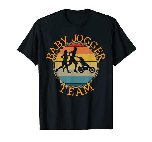 Baby Jogger Team Funny Family Jogging Cochecito retro diseño Camiseta