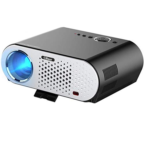 Touying Cibest Video Projector Portable, GP90 LCD Projector HD 1080P LED Multimedia Home Cinema Theater Entertainment Movie Party Game Projector HDMI VGA for Laptop Ipad Smartphone