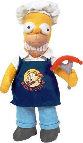United Labels 1000392 Los Simpson - Peluche de Homer con Salchicha (28 cm)