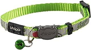 Rogz Cat Collar Breakaway Reflectocat - Small 6in-9in neck - Lime