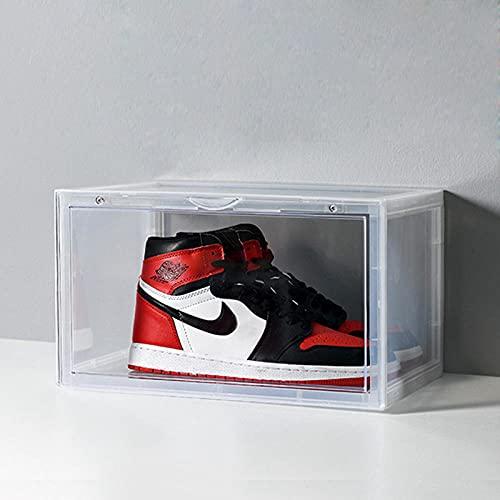 Caja De Zapatos De Volteo Plegable Extraíble, Caja De Plástico De Artefacto De Almacenamiento, Caja De Zapato De Polvo De Espeso De Pp Transparente-Blanco