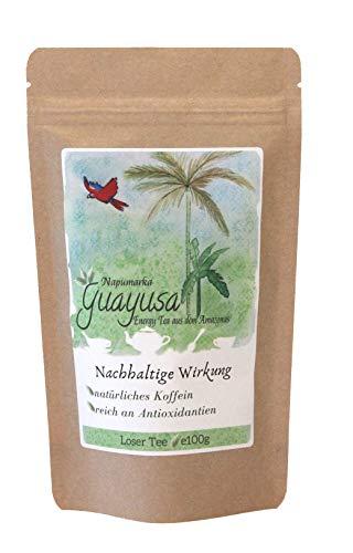 Guayusa von Napumarka, lose - natürlich frische Energie aus dem Amazonas- Koffeinhaltig. Feinschnitt (100g)
