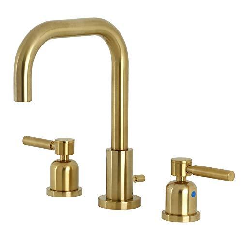 Kingston Brass FSC8933DL Concord Widespread Bathroom Faucet Pop-Up, Brushed Brass