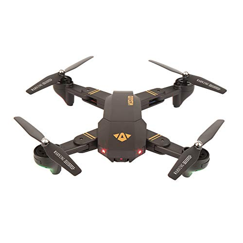 RC Drone Visuo XS809W Mini Drone Pieghevole per Selfie con WiFi FPV 0.3MP Altitude Hold Quadcopter