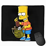 Chaxiedou Bart-Simpson Computer Laptop Mouse Pad Anti-Slip Mouse Mat for Desktops Office and Home 11.8''x9.8