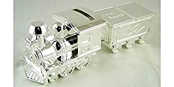 TRAIN MONEY BOX - This silver money box train is going places, much like the recipient. Not only is it a money box in the design of a train but it has compartments for 'First Curl' and First Tooth' as it's carriages! KEEPSAKE - They don't make them c...
