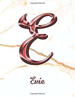Evie: 1 Year Weekly Planner with Note Pages (12 Months)   White Marble Rose Gold Pink Effect Letter E   2020 - 2021   Week Planning   Monthly ...   Plan Each Day, Set Goals & Get Stuff Done