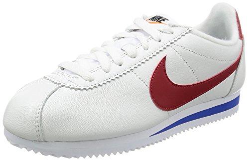 Nike Classic Cortez Se, Entrenadores Hombre, Blanco (White/Varsity Red/Varsity Royal), 44 EU