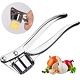 ISKM Garlic Press Mincer Ginger Crusher Peeler Squeezer Heavy Duty Zinc Alloy Garlic