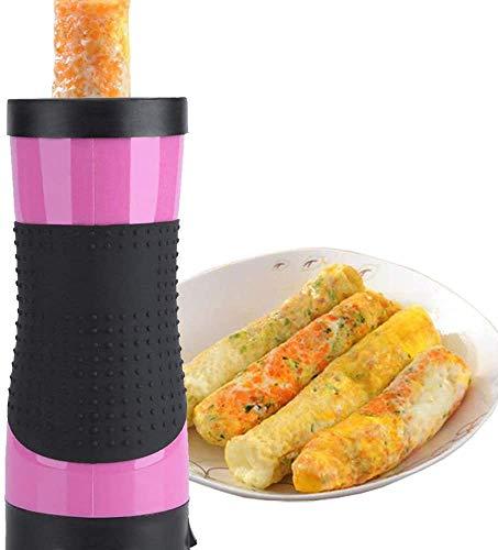 Elektrischer Vertikaler Eierkocher, Wurst-Omelet-Maschine, schnelle Hände, automatisch, Antihaftbeschichtung, einfaches Eierrollen, Kochgeschirr, nahrhaft, für Frühstücksherstellung (Pink)