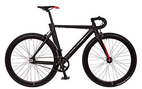 FK Cycling Bicicleta Fixie Aluminio/Carbono derail rd42 Negra_Roja (M 520)