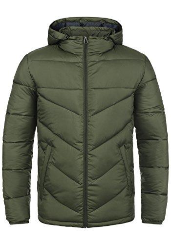 PRODUKT Pfiffikus Herren Steppjacke Übergangsjacke Jacke mit Kapuze, Größe:XL, Farbe:Forest Night