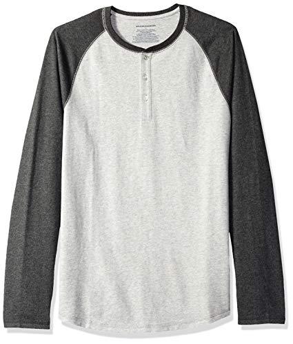Amazon Essentials - Camisa Henley de manga larga para hombre, M