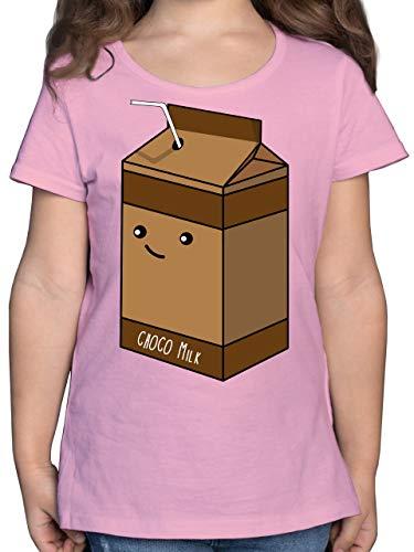 Karneval & Fasching Kinder - Partnerkostüm Schokoladenmilch - 164 (14/15 Jahre) - Rosa - F131K - Mädchen Kinder T-Shirt