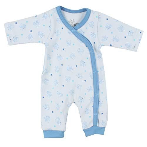 Fixoni bébé prématuré garçon, combi pyjama/grenouillère, Little Bee, bleu, 3143003