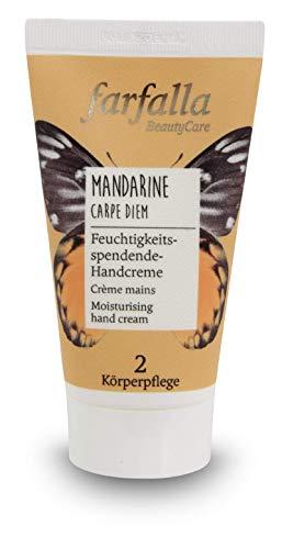 farfalla Mandarine feuchtigkeitsspendende Handcreme 100 zertifizierte Naturkosmetik, 50 milliliter