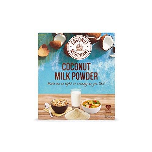 250g Coconut Merchant Leche de coco en polvo Alternativa de leche en polvo vegana | para curry, sopas, salsas, batidos y bebidas | Vegano | De origen ético | Versátil, bébalo, agréguelo, revuélvalo