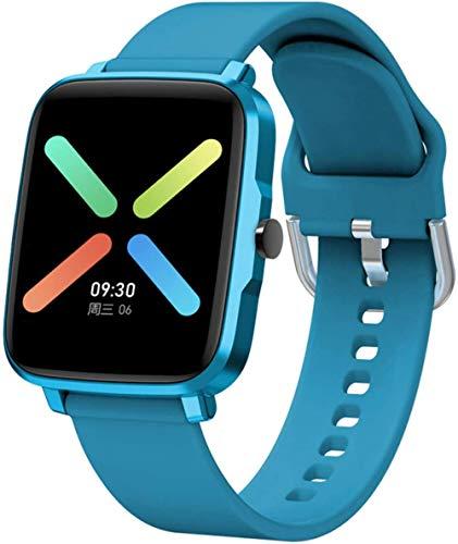 Smart Watch Sportuhren IP68 Wasserdicht 1.54 Touchscreen Smartwatch 30 Tage Akkulaufzeit 11 Sportmodi Fitness Tracker mit Pulsmesser für Männer Frauen Android iOS-Blue
