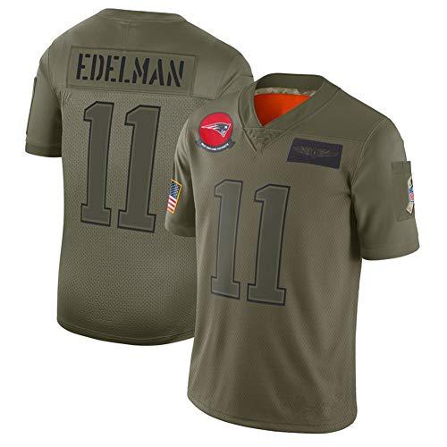 Julian Edelman Nr. 11 New England Patriots Amerikanisches Rugby-Trikot, 53. Super Bowl-Champion, American Football Sportswear-S