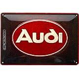 Nostalgic-Art Retro Blechschild Audi – Logo Red –
