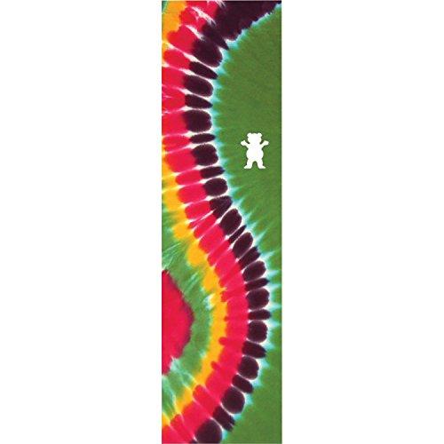 Grizzly Griptape Gebogene Krawattenfarbe, grün/Regenbogenfarben, 22,9 x 83,8 cm