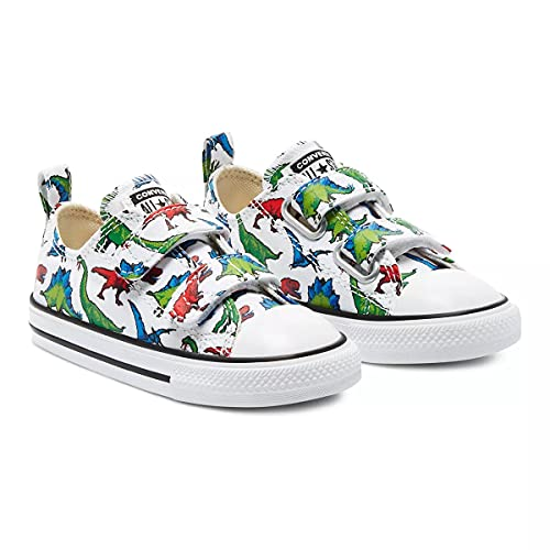 Converse Unisex Chuck Taylor All Star 2V Low Top Sneakers - Toddler, Little Kid, Big Kid White/Green