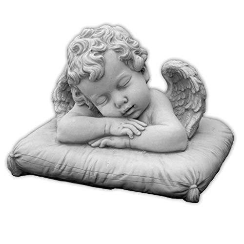 gartendekoparadies.de Schöner, schlafende Engel aus Steinguss, frostfest