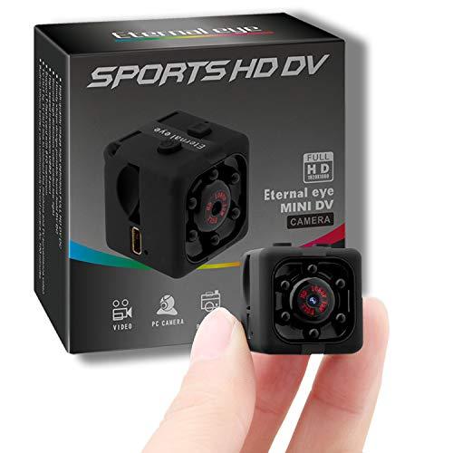 Mini Surveillance Cámara Portable HD CAM Espía HD 1080P Espía Cámara Oculta Portátil Interior Cámara Espía con Detectores de Movimiento, Visión Nocturna por Infrar Rojos Vigilancia