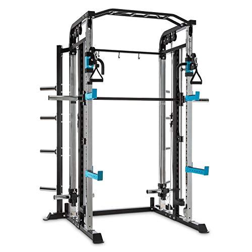 Capital Sports Amazor - MasterSmith Machine + Cavi per Trazioni, Power Rack, Safety Spotter: Max....