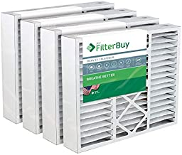 FilterBuy 20x25x5 Air Filter MERV 13, Pleated Replacement HVAC AC Furnace Filters for Honeywell, Carrier, Bryant, Day & Night, Lennox, and Payne (4-Pack, Platinum)