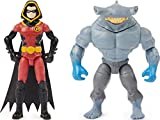 BATMAN 4-inch Robin and King Shark Action Figures with 6 Mystery Accessories