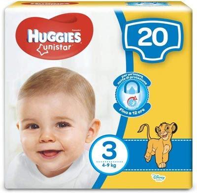 Huggies Pañales, talla 3 (4-9 kg), 4 paquetes de 20 pañales, 80 unidades más 1 cuchara de regalo