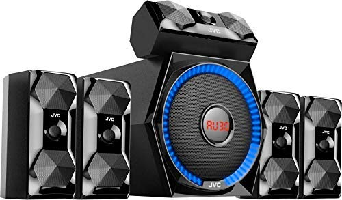 (Renewed) JVC XS-XN511A 100W Bluetooth Home Audio Speaker 5.1 Home Theater System (Black)