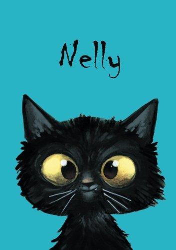 Nelly - Katzen-Malbuch / Tagebuch / Notizbuch: DIN A5 - blanko - Katze